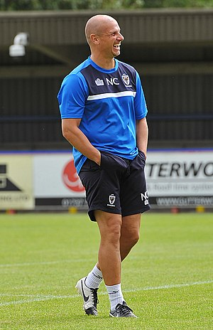 Neil Cox (footballer) - Neil Cox  during a coaching session with AFC Wimbledon