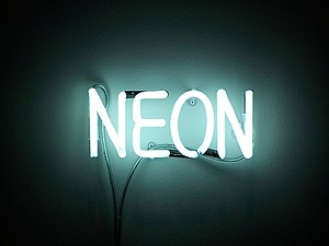 Misleading image of a sample of neon!