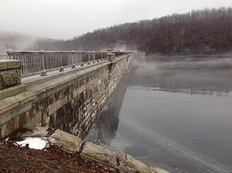 New Croton Dam - The dam on the reservoir side