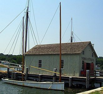 Sharpie (boat) - New Haven Oyster Sharpie, Mystic Seaport