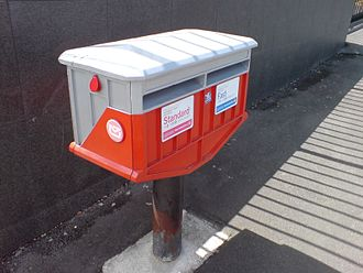 New Zealand Post - A NZ Post box with slots for two classes of mail