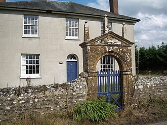 Batcombe, Dorset - Newlands Farm with its archway dated 1622