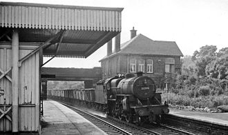 Horsforth - Newlay & Horsforth station with a freight train in 1964