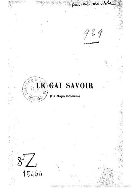File:Nietzsche - Le Gai Savoir, 1901.djvu