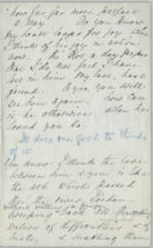 Mary Elizabeth Mohl - Letter from Florence Nightingale to Mohl in 1881