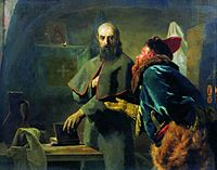Nikolaj Wassiljewitsch Newrew - Philip II, Metropolitan of Moscow and Malyuta Skuratov.jpg