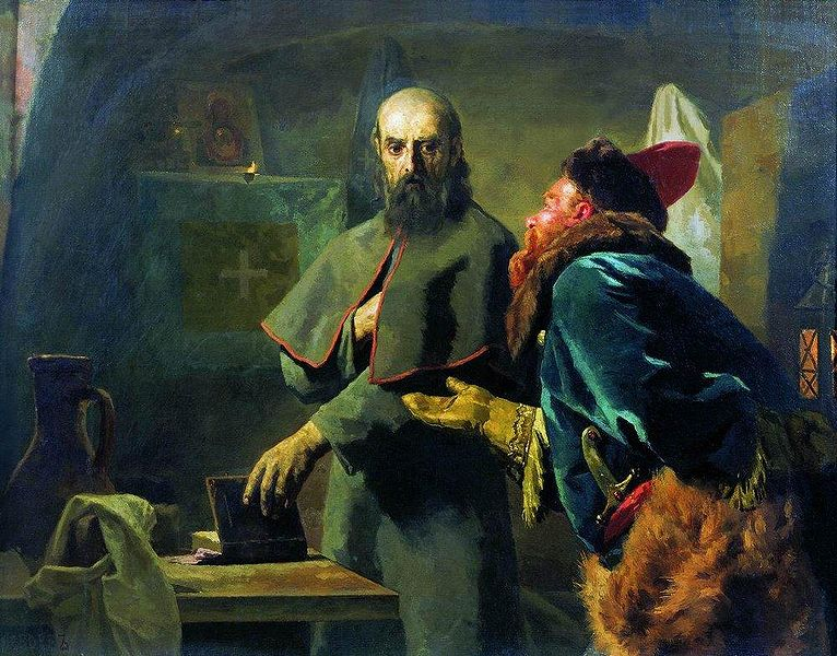File:Nikolaj Wassiljewitsch Newrew - Philip II, Metropolitan of Moscow and Malyuta Skuratov.jpg