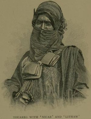 Iwellemmedan people - French view of a Tuareg man from Timbuktu, c.1890s.