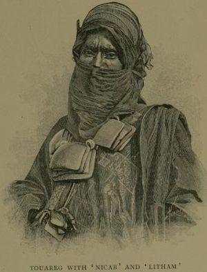 Litham - Tuareg man wearing a litham.