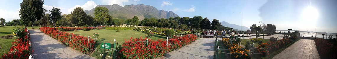 Panorama Of Nishat Bagh