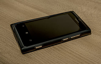 Microsoft Mobile - Nokia Lumia 800, Nokia's first device running Windows Phone.