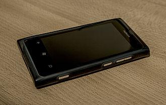 Microsoft Mobile - Nokia Lumia 800, Nokia's first device running Windows Phone.