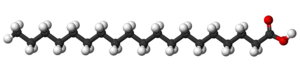 Nonadecylic acid - Image: Nonadecylic acid 3D balls