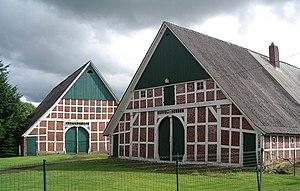 Land Hadeln - Typische Fachwerkhäuser in Nordleda.