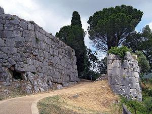 """Norba - """"Porta Maggiore"""", the main gate of Norba"""
