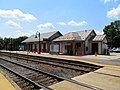 North Billerica station and old pedestrian crossing, July 2015.JPG
