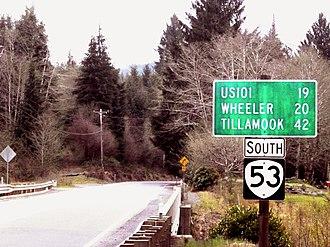 Oregon Route 53 - North End of Oregon 53