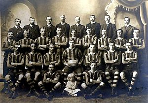 Australian rules football in Tasmania - The North Hobart FC, 1909 premiers.