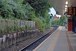 Northbound platform, Salford Crescent railway station (geograph 4500615).jpg