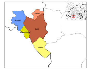 Batié Department location in the province