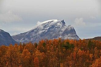 Skånland - Autumn view of Novafjell (Nova mountain) in Skånland