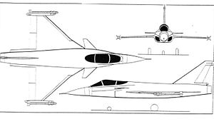 Orthographically projected diagram of the Novi Avion