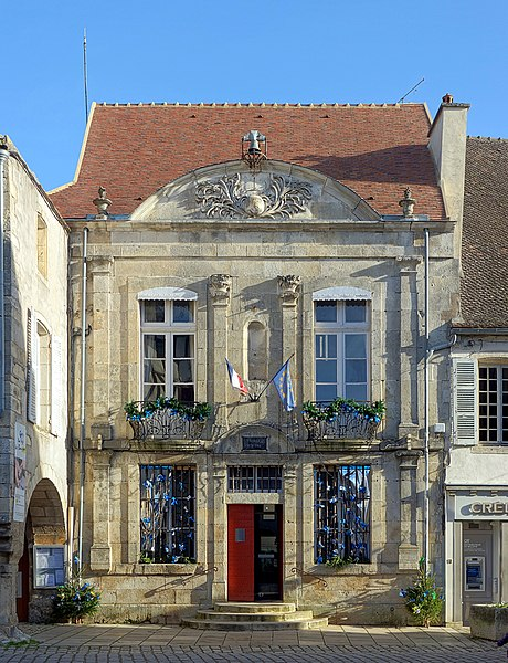 Town hall of Noyers-sur-Serein, France.