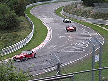 Nordschleife Is Often Open To The Public Three Caterhams Are Entering Brünnchen A Spectator Vantage Point