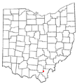OHMap-doton-Centerville Gallia County.png