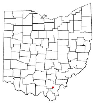 Centerville, Gallia County, Ohio - Image: OH Map doton Centerville Gallia County