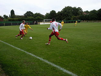 Oadby Town F.C. - Oadby (white shirts) playing Tividale in the FA Vase in 2010