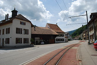 Waldenburg railway - Line passing through Oberdorf