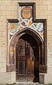 Obermenzing - Schloss Blutenburg - Kapelle - Tür außen 002.jpg