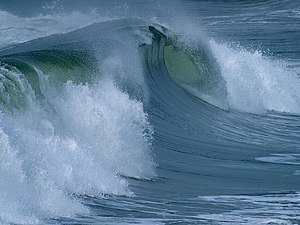 English: Ocean surface wave.