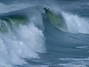English: Ocean surface wave.
