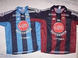 Djurgårdens IF - Djurgårdens IF home and away jerseys in association football in 2002.