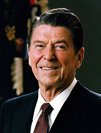 United States presidential election in California, 1980 - Image: Official Portrait of President Reagan 1981 cropped