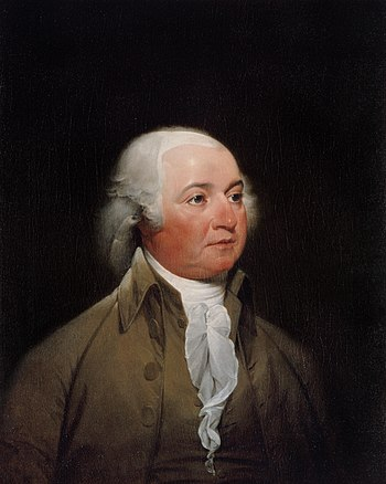 John Adams, 2nd President of the United States (1797–1801) and one of the Founding Fathers Official Presidential portrait of John Adams (by John Trumbull, circa 1792).jpg
