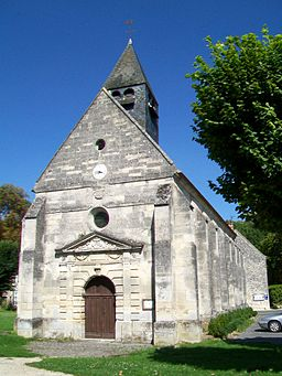 Ognon (60), église Saint-Martin, façade occidentale.jpg