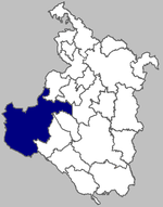 Map of Ogulin municipality within Karlovac County