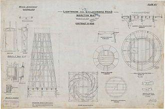 Old Caloundra Light - Lighthouse plans, 1896