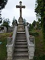 Old Crucifix with stairs, Saint Nicholas Cemetery, Keszthely, 2016 Hungary.jpg
