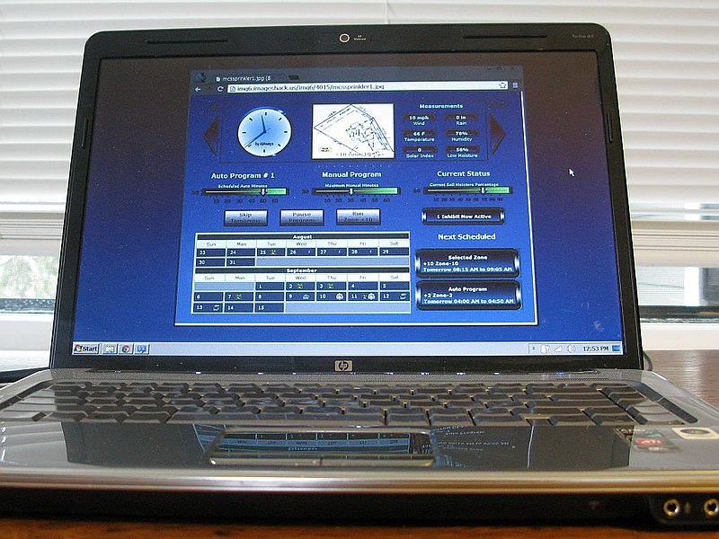 Tập tin:Old Laptop Used for Home Automation Sprinkler System.jpg