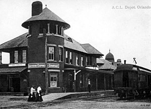 Church Street Station (Orlando) - The Depot, as it appeared circa 1910.