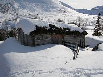 Gaular - An old barn at Oppedal