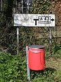 Old style sign, Bulwick - geograph.org.uk - 1285624.jpg