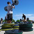 Olympic-style weight lifting training.JPG