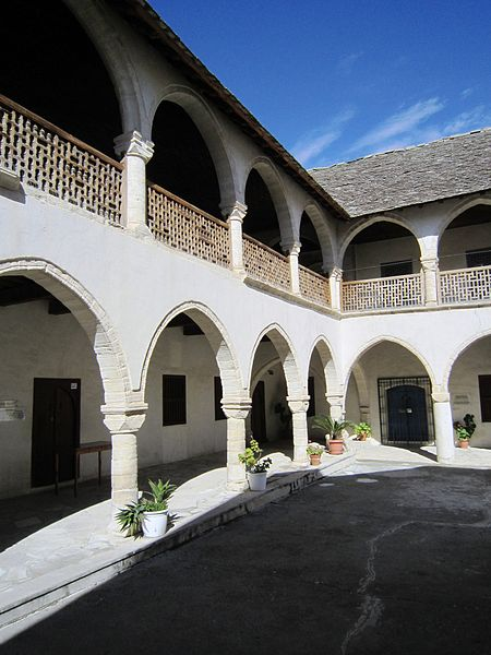 File:Omodos - monastry of the holy cross - galary.JPG
