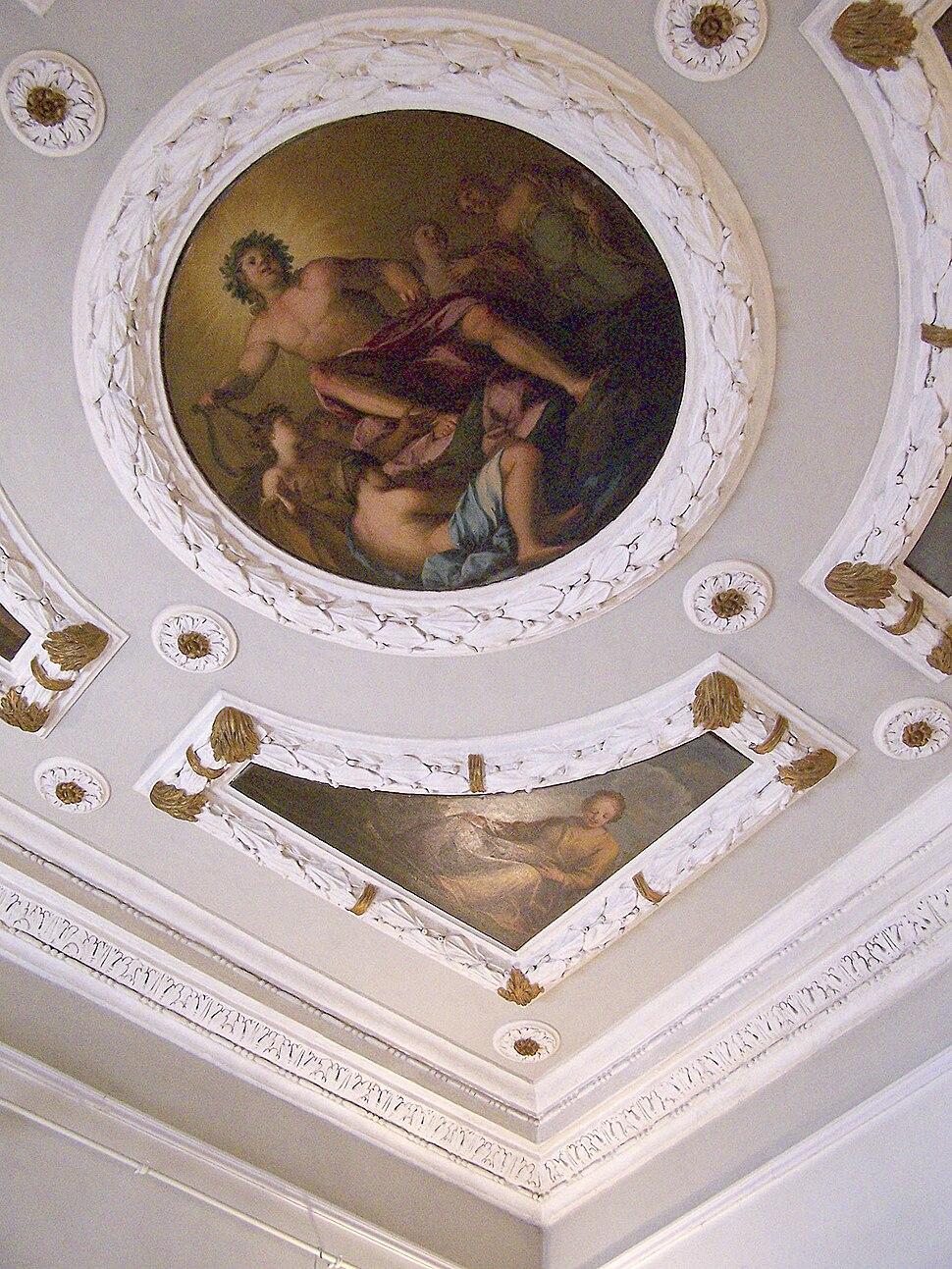Onamental ceiling Palazzo Chiericati Vicenza