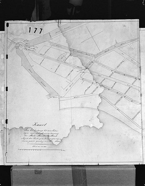 File:Ontwerp uitwatering Stadsriolering van Hoorn door J.v.Asperen 1844 - Hoorn - 20115917 - RCE.jpg